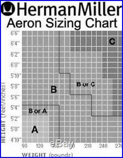 NEW Leather Herman Miller Aeron Chair Titanium Smoke Zinc Seat Medium Size B