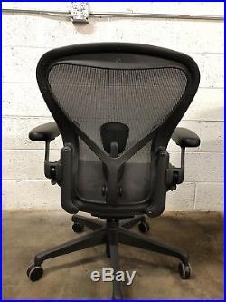 New Herman Miller Aeron Chair Size B Medium Fully Adjustable Graphite  Remastered