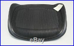 New OEM Herman Miller Aeron Classic Seat Pan Replacement Size C Large Black 3D01