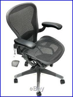 RENEWED- Classic Herman Miller Fully-Loaded Size B Lumbar Support Aeron Chair