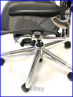 Renewed Aeron Executive Classic Size B Posturefit With Headrest