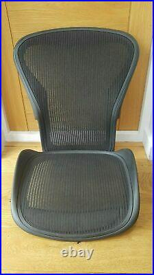 Replacement Herman Miller Aeron Chair Mesh Set Size B Black Seat & Back