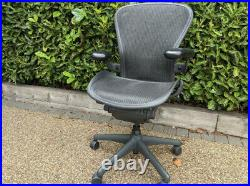 Size B Black Herman Miller AERON chair with Posture Fit Fully Loaded