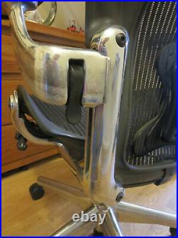 Size B Black Herman Miller AERON chair with Posture Fit Sussex delivery