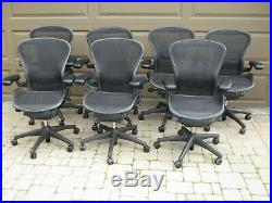 Used HERMAN MILLER Aeron Chair Size B Fully Adjustable PICKUP ONLY