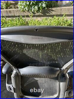 Used Herman Miller Aeron Office Chair Size B Ergonomic Graphite