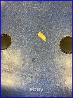 Vintage Herman Miller Blue Aeron Molded Fiberglass Chair with base